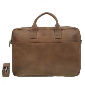 DSTRCT Fletcher Street Business Bag Cognac 15-17 inch Voorkant