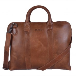 DSTRCT Fletcher Street Business Bag Cognac 13 inch Voorkant