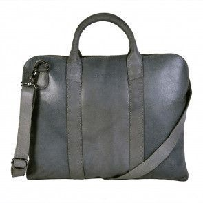 DSTRCT Fletcher Street Business Bag Grey 13 inch Voorkant