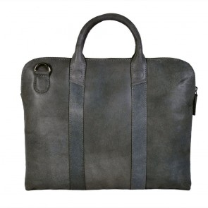 DSTRCT Fletcher Street Business Bag Grey 13 inch Achterkant