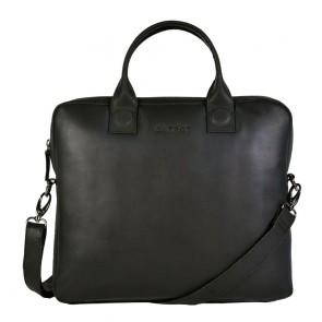 DSTRCT Fletcher Street Business Laptop Bag Black 11-13 inch Voorkant