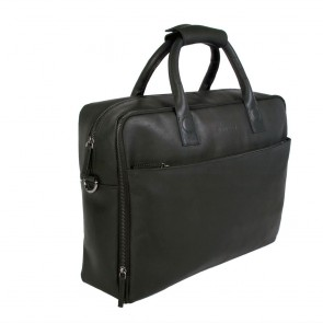 DSTRCT Fletcher Street Business Laptop Bag Black 15-17 inch Voor- zijkant