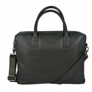 DSTRCT Fletcher Street Business Laptop Bag Black 15 inch Voorkant
