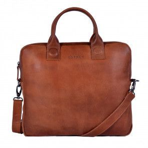 DSTRCT Fletcher Street Business Laptop Bag Cognac 11-13 inch Voorkant