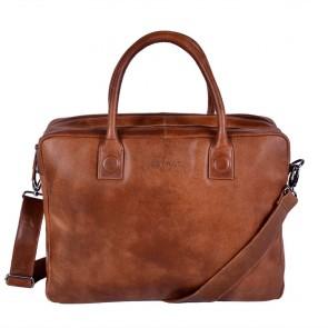 DSTRCT Fletcher Street Business Laptop Bag Cognac 15 inch Voorkant