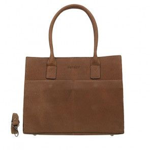 DSTRCT Fletcher Street Dames Laptop Bag Cognac 13-15 inch Voorkant