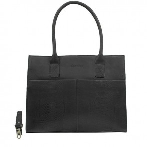 DSTRCT Fletcher Street Dames Laptop Bag Anaconda Black 13-15 inch Voorkant