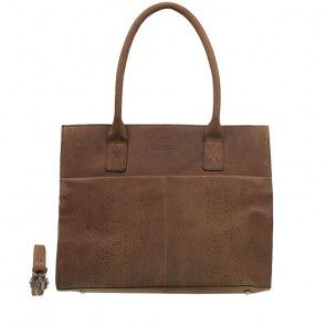 DSTRCT Fletcher Street Dames Laptop Bag Anaconda Cognac 13-15 inch Voorkant