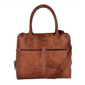 DSTRCT Fletcher Street Dames Laptop Bag Cognac 11.6 inch Voorkant