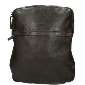 DSTRCT Pearl Street Backpack Brown 15.6 inch Voorkant