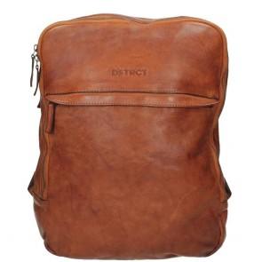 DSTRCT Pearl Street Backpack Cognac 15.6 inch Voorkant