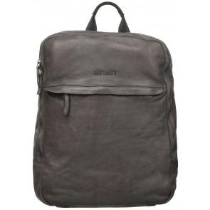 DSTRCT Wall Street Business Bag Double Zipper Cognac 15 inch Voorkant