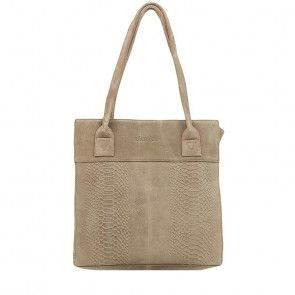 DSTRCT Portland Road Small Shopper Taupe Voorkant