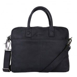 DSTRCT Wall Street Business Bag Black 11-14 inch Voorkant