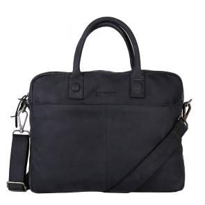 DSTRCT Wall Street Business Bag Black 11-14 inch Voorkant