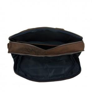 DSTRCT Wall Street Laptop Bag Brown 13-15 inch Open