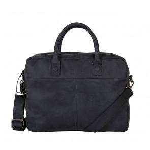 DSTRCT Wall Street Business Laptop Bag Black 13-15 inch Voorkant