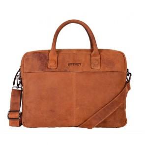 DSTRCT Wall Street Business Laptop Bag Cognac 13-15 inch VoorkantDSTRCT Wall Street Business Laptop Bag Cognac 13-15 inch Voorkant