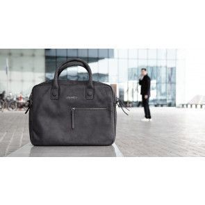DSTRCT Wall Street Business Bag Double Zipper Black 15 inch Lifestyle