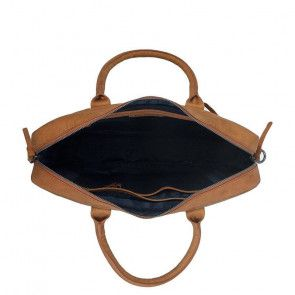 DSTRCT Wall Street Business Bag Cognac 15-17 inch Open
