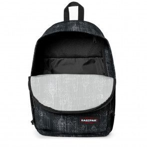 Eastpak Back to Work Rugzak Black Blocks 15 inch Open