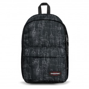 Eastpak Back to Work Rugzak Black Blocks 15 inch Voorkant