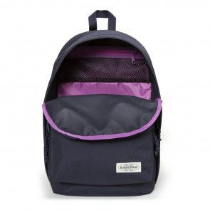 Eastpak Back to Work Rugzak Navy Stitched 15 inch Open