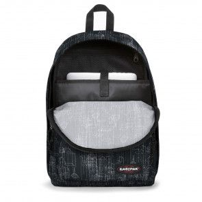 Eastpak Out of Office Rugzak Black Blocks 14 inch Voorkant Open