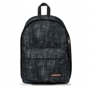 Eastpak Out of Office Rugzak Black Blocks 14 inch Voorkant