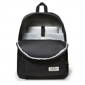 Eastpak Out of Office Rugzak Black Stitched 14 inch Voorkant Open