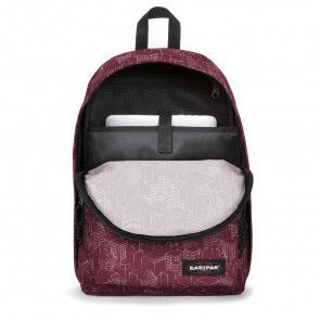 Eastpak Out of Office Rugzak Merlot Blocks 14 inch Voorkant Open