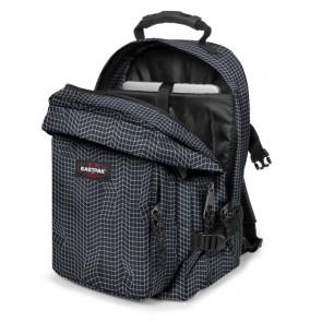 Eastpak Provider Rugzak Black Stitched 15 inch Open