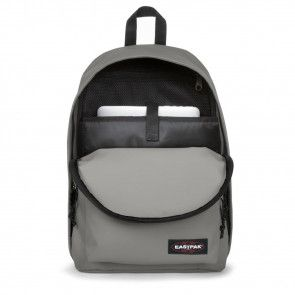 Laptoptas Eastpak Out of Office Rugzak Silky Grey 14 inch Open