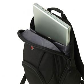 Laptoprugzak Ellehammer Deluxe Backpack Black 17 inch Vakje schouderband Open