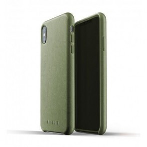 Mujjo Leather Case iPhone XS Max Olijf