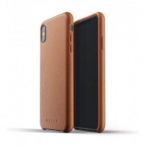 Mujjo Leather Case iPhone XS Max Tan