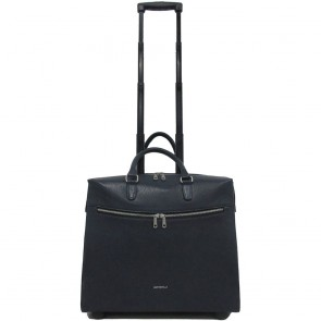 Gigi Fratelli Dames Leren Laptop Trolley 15.6 inch Romance Business ROM8015 Blauw Voorkant