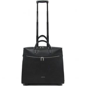 Gigi Fratelli Dames Leren Laptop Trolley 15.6 inch Romance Business ROM8015 Zwart Voorkant