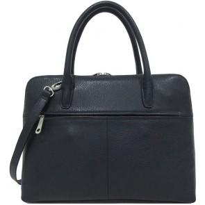 Gigi Fratelli Dames Leren Laptoptas 13.3 inch Romance Business ROM8013 Blauw Achterkant
