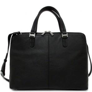 Gigi Fratelli Dames Leren Laptoptas 13.3 inch Elegance ELE0033 Zwart Voorkant