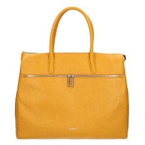 Gigi Fratelli Dames Leren Laptoptas 17 inch Romance Business ROM8007 Yellowgold Voorkant