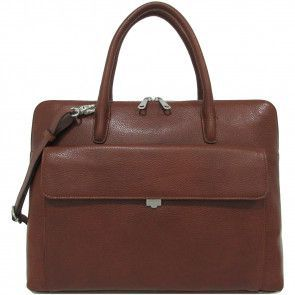 Gigi Fratelli Dames Leren Laptoptas 15.6 inch Romance Business ROM8014 Brandy Voorkant