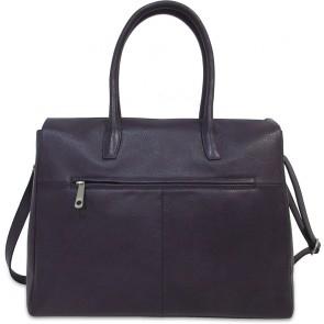 Gigi Fratelli Dames Leren Laptoptas 15 inch Romance Business ROM8006 Dark Violet Achterkant