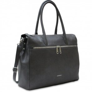 Gigi Fratelli Dames Leren Laptoptas 15 inch Romance Business ROM8006 Smoke Voorkant