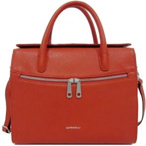 Gigi Fratelli Dames Leren Laptoptas / Tablet tas 10 inch Romance Business ROM8010 Oranje Voorkant