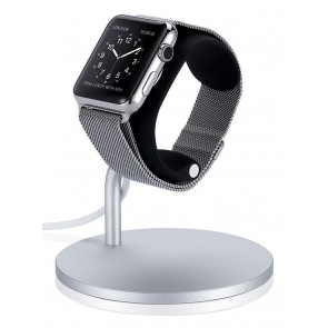 Just Mobile Lounge Dock Apple Watch zij- en voorkant