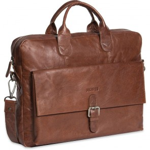 Justified Leren Laptoptas 15 inch Everest Cognac Voorkant