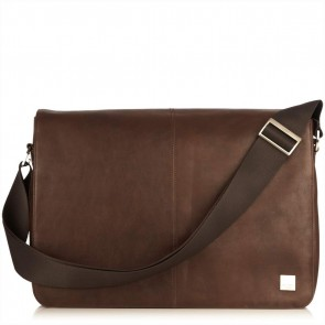 Bungo Expandable Messenger Brown 15.6 inch Voorkant