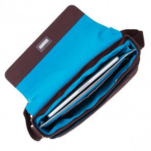 Bungo Expandable Messenger Brown 15.6 inch Open