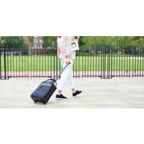 Knomo Burlington Business Trolley Black 15 inch Lifestyle